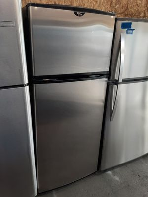 $350 whirlpool stainless 18 cubic fridge includes delivery in the San Fernando valley warranty and installation included for Sale in Los Angeles, CA