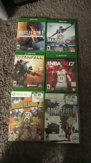 Xbox one and Xbox 360 games for Sale in Grand Terrace, CA