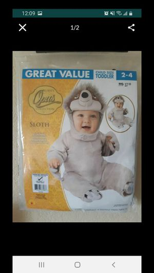 Brand new baby sloth costume size 2 to 4 for Sale in Kent, WA