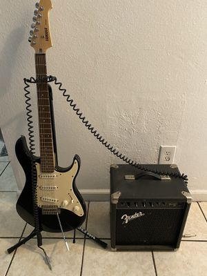 Yamaha Strato caster and Fender Amp for Sale in San Jose, CA