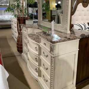 Stanley Antique White Dresser $39 down Payment only for Sale in Silver Spring, MD