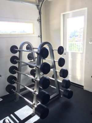 Fixed barbell set for Sale in San Diego, CA
