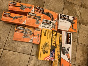 Brand new with box Ridgid octane power tools $80 each tool for Sale in Philadelphia, PA
