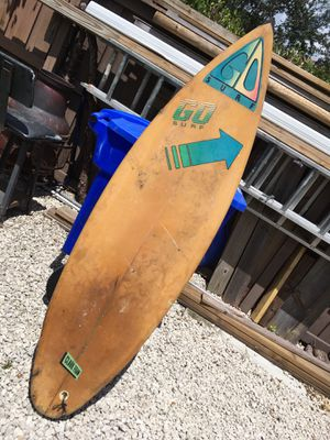 Vintage 70s surfboard go surf for Sale in Margate, FL