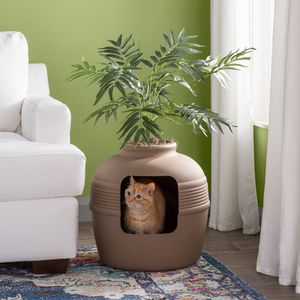 Covered Hidden Cat Litter Box with Decorative Planter Home Decor Hide Messes Plant Kitty for Sale in Orlando, FL