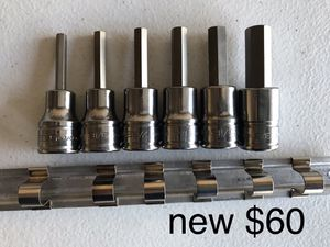 Snap On Allen Sockets Hex SAE 3/8 Dr New for Sale in Plano, TX