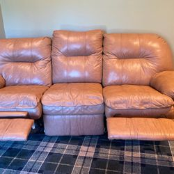 2 Piece Coach Set - Leather - Reclines for Sale in Long Branch,  NJ
