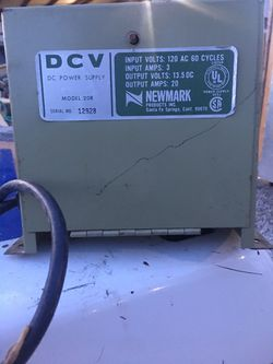 Newmark DCV Power Supply for travel trailers for Sale in San Antonio,  TX