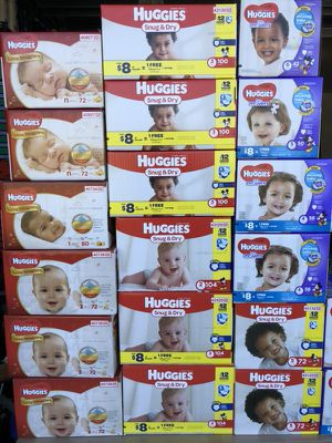 Diapers box $15 and packs $6 for Sale in Lehigh Acres, FL
