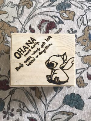 Disney Woodburned Box for Sale in Ashburn, VA