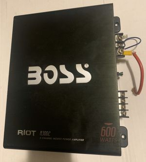 boss amplifier 2channel for Sale in Des Plaines, IL