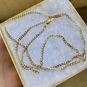 STUNNING 🔥😳!!! Diamond Cut SOLID 925 STERLING SILVER + 14k Gold Plated Curb Link Chain !!! for Sale in Los Angeles, CA