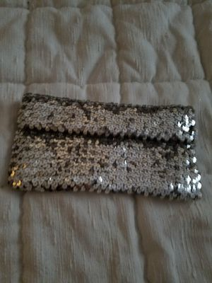 New silver sequins clutch purse for Sale in West Palm Beach, FL