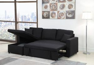 Sectional sofa pullout bed ( with storage ottoman) for Sale in Los Angeles, CA