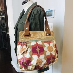 Fossil Coated Canvas Floral Key Per Tote Bag for Sale in Fulton,  MD