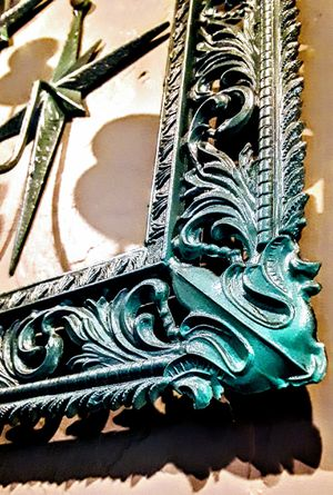 Antique hand-made bronze Italian picture frame 2 bronze candelabras for Sale in Tucson, AZ