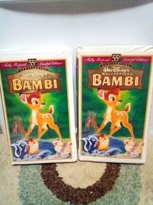 2 Bambi 55th Anniversary VHS for Sale in Midland, TX