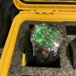 Invicta Green Face Black Band Watch for Sale in Las Vegas, NV