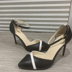 Black & White Ankle Strap Heels for Sale in Fairfax, VA