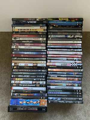 60 dvd movies action comedy drama sci fi for Sale in Modesto, CA