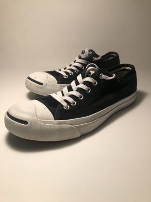 CONVERSE Jack Purcell Black White Canvas Women's Size 9 Tennis Shoes for Sale in San Lorenzo, CA
