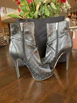 BEBE Leather Studded Black Boots for Sale in Stone Ridge, VA