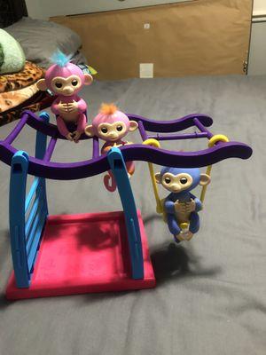 WowWee Swing Playground set with 3 Fingerlings Monkeys for Sale in Longwood, FL