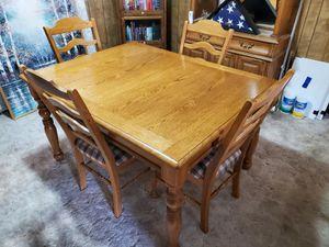 Solid Oak Dining Table for Sale in Salt Lake City, UT