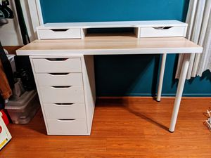 Ikea Alex drawer desk and hutch white for Sale in City of Industry, CA