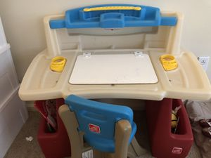 Kids activity table and chair (step 2) for Sale in Manchester, CT