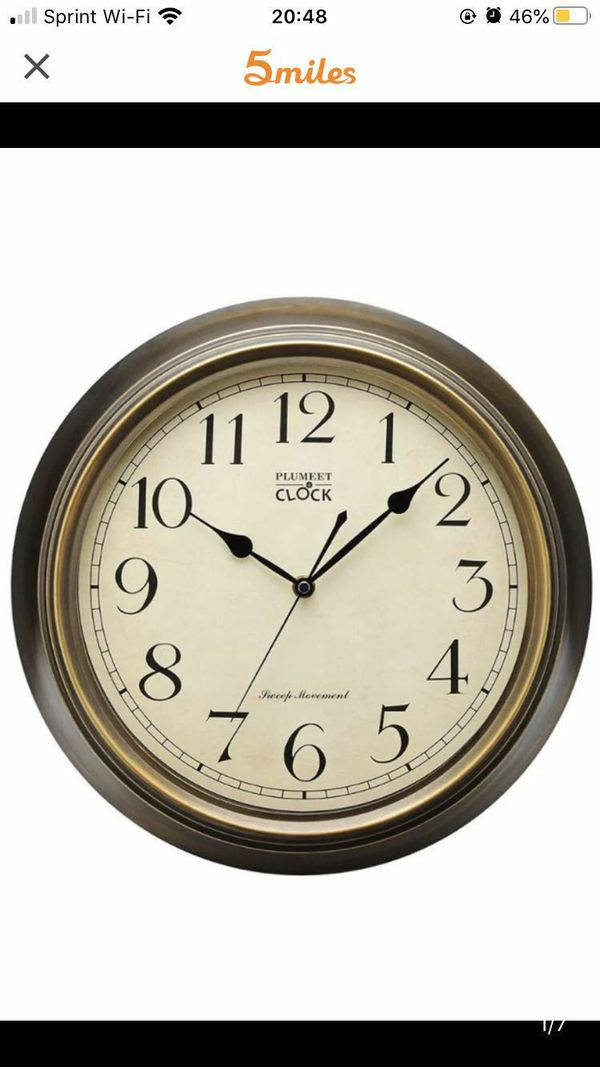 Extra Large Silent Wall Clock, 14'' Non Ticking Classic Retro Wall Clock Decorative Living Room, Bedroom, Outdoors, Battery Operated Quartz Large