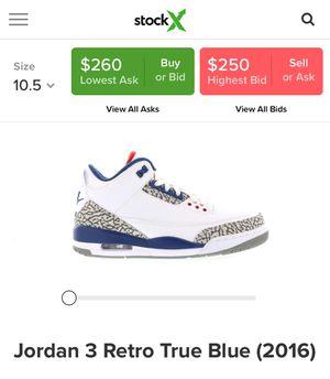 Jordan 3 Retro true blue Og for Sale in Seattle, WA