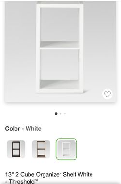 "13"" 2 Cube Organizer Shelf White - Threshold for Sale in Flushing,  NY"