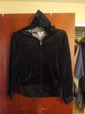 Black sweat jacket hoodie. Size med-lg for Sale in Avon Lake, OH