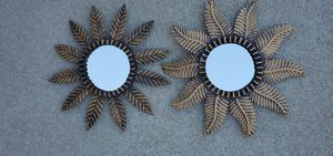 Set of 2 Metal Wall Mirrors for Sale in Goodyear, AZ