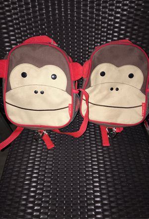 2 monkey backpack leash for Sale in Stockton, CA