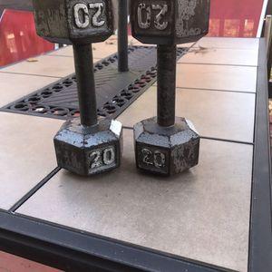 20lbs Iron Hex Dumbbell Set for Sale in Woodbridge, VA