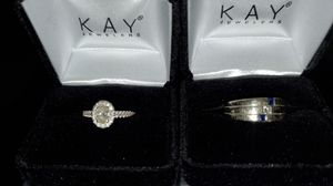 Engagement ring - white gold women's size 7 and mens size 9 for Sale in Dallas, TX