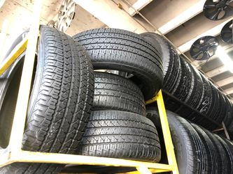 Firestone 235-60-17 Tire Set 85% To 90% Life, Best Offer $200 includes installation and balancing English and Spanish spoken for Sale in Long Beach,  CA