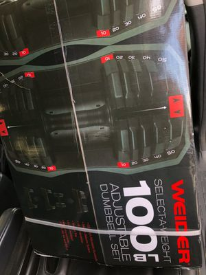 WEIDER select a weight 100lbs dumbbells for Sale in Imperial Beach, CA