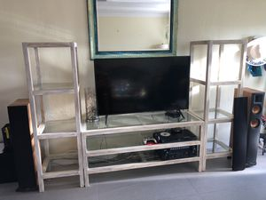 Pottery barn tv table and shelves for Sale in Deerfield Beach, FL