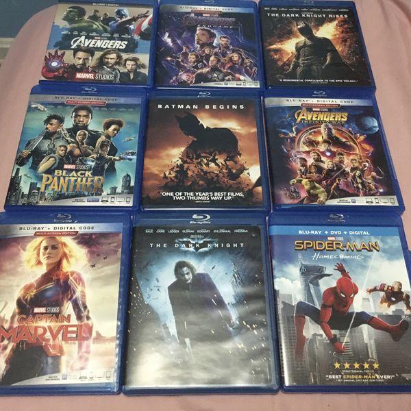 9 Blu-Ray Marvel & DC