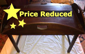 Vintage Hinged Mahogany Butler Tray Table for Sale in Venice, FL