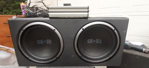 Subs and amp pounds hard. 10in 1000watts and 500 monoblock amp for Sale in Vancouver, WA