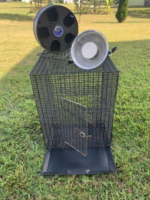 Sugar Glider or Small Pet Cage with Sugar Glider Heat Lamp and Wheel for Sale in Winder, GA