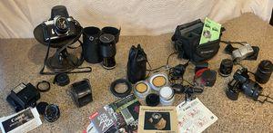 Vintage Canon & Pentax Cameras, lenses, cases, accessories & manuals for Sale in Pleasanton, CA