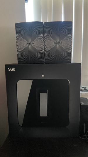 Sonos Subwoofer with 2 Sonos One for Sale in Pompano Beach, FL