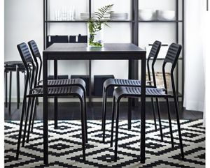 "Table, black, 43 1/4x26 3/8 "" with 4 chairs for Sale in New York, NY"
