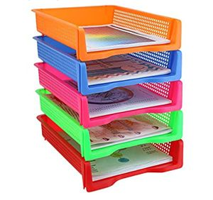 50% off file folder organizer trays stacking plastic holders for Sale in Bellevue, WA