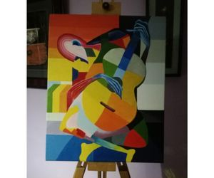 The blind guitarist. Canvas 27 inches X 13 inches. for Sale in Hialeah, FL